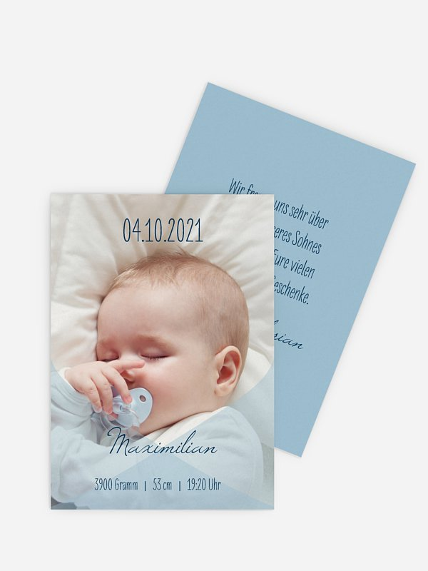 Geburtskarte Seidentuch