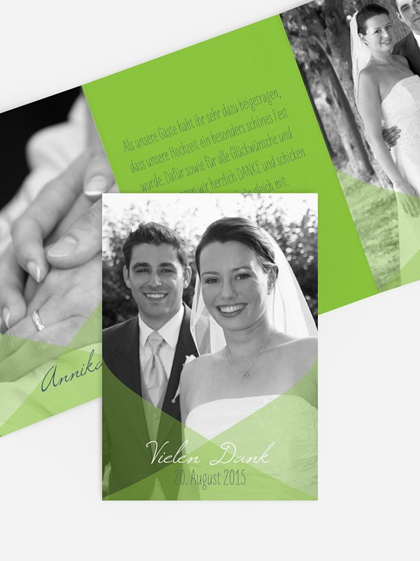 Dankeskarte Hochzeit Seidentuch