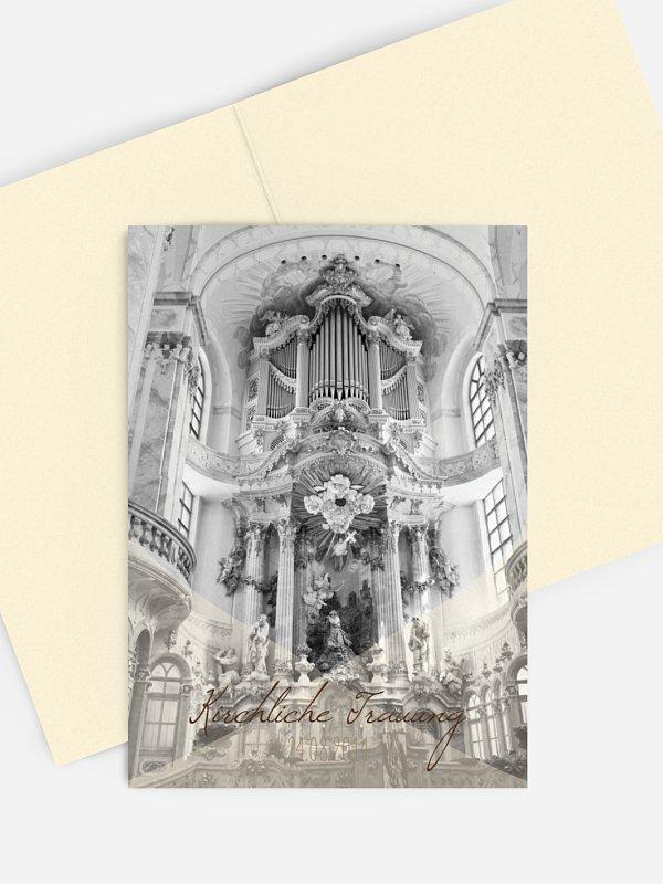 Kirchenheft Hochzeit Seidenband