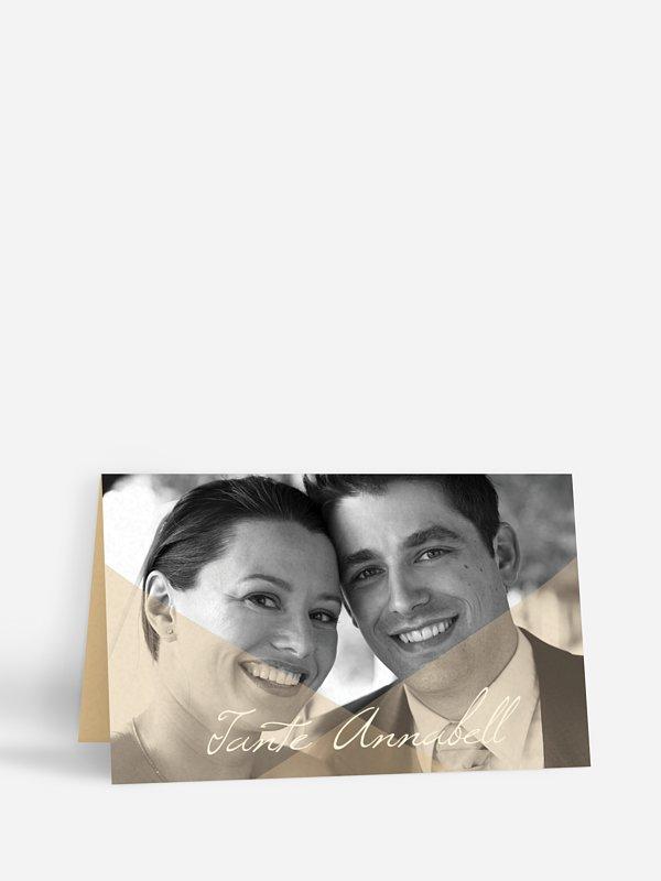 Tischkarte Hochzeit Seidenband