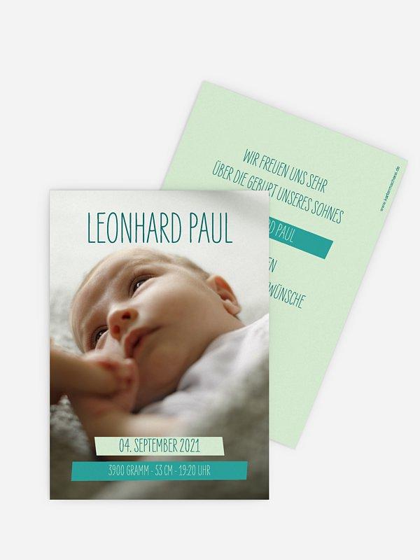 Geburtskarte Bildlich