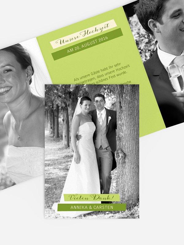 Dankeskarte Hochzeit Bildlich