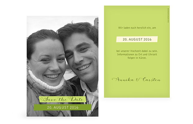 Save-the-Date Karte Bildlich