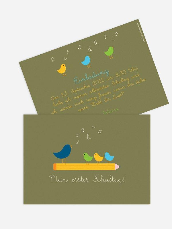 Einladung Einschulung Vogelgesang