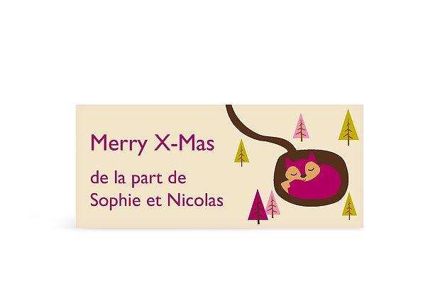 Étiquette cadeau Noël Renard