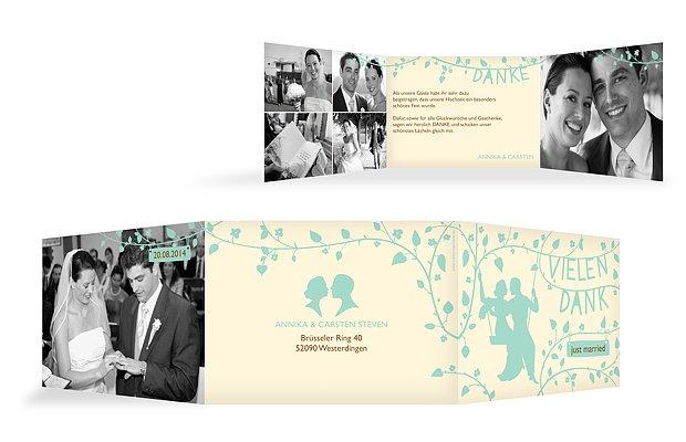 """Dankeskarte Hochzeit """"Romantisch"""""""