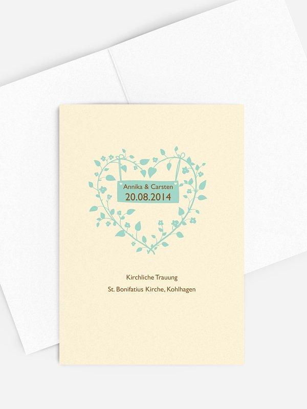 Kirchenheft Hochzeit Romantisch