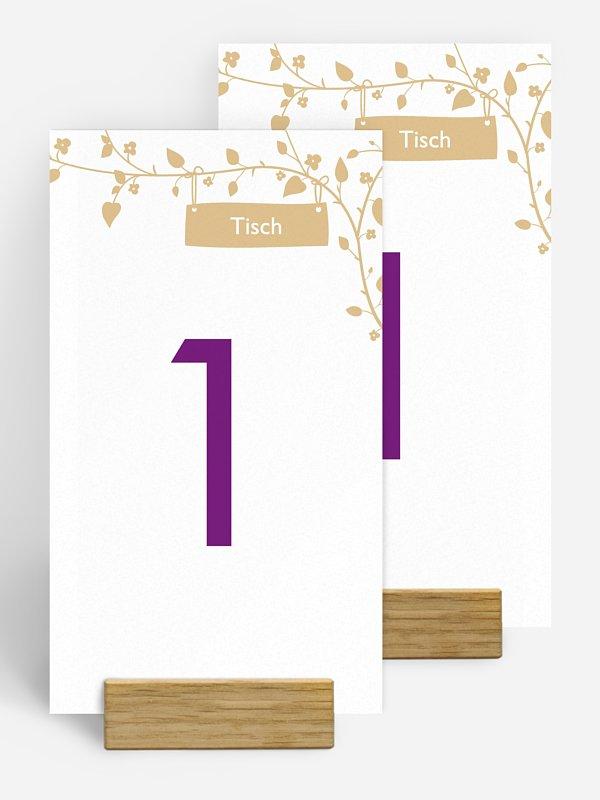 Tischnummer Romantisch