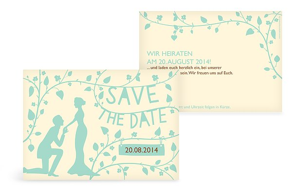 Save-the-Date Karte Romantisch
