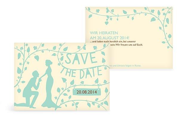 """Save-the-Date Karte """"Romantisch"""""""