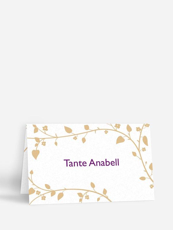 Tischkarte Hochzeit Romantisch