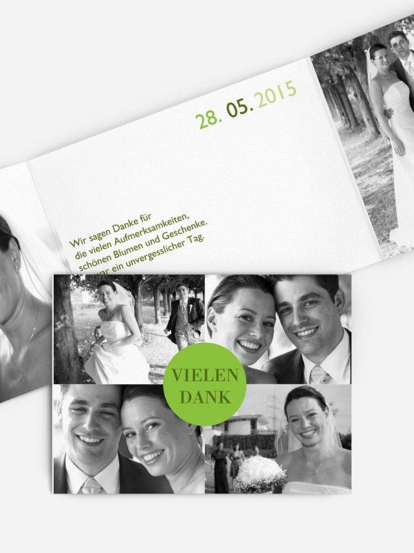 Dankeskarte Hochzeit Prickelnd