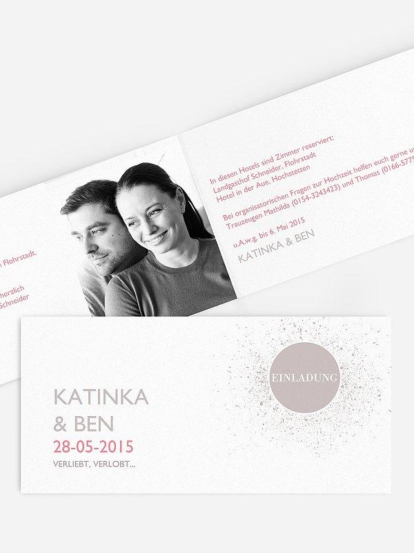 Hochzeitseinladung Prickelnd