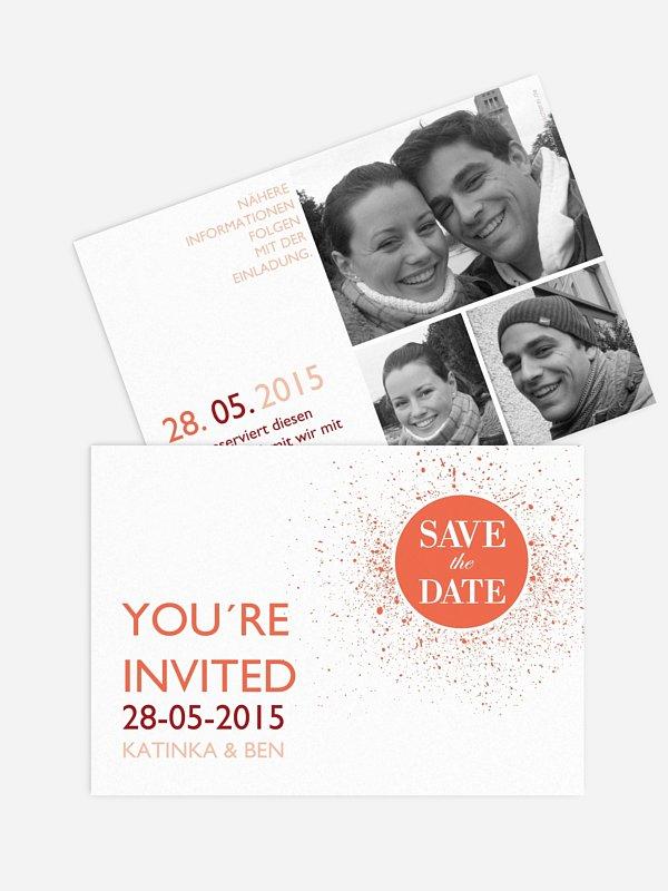 Save-the-Date Karte Prickelnd