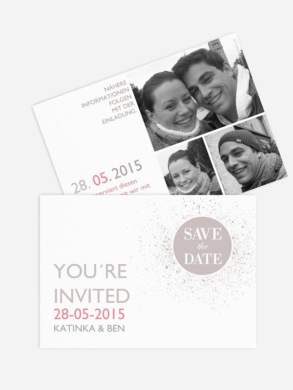 Save-the-Date Karte Prickelnd