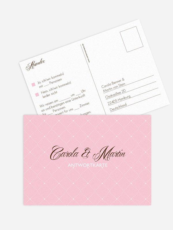 Antwortkarte Hochzeit Funkelnd