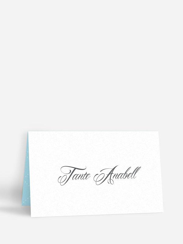 Tischkarte Hochzeit Funkelnd