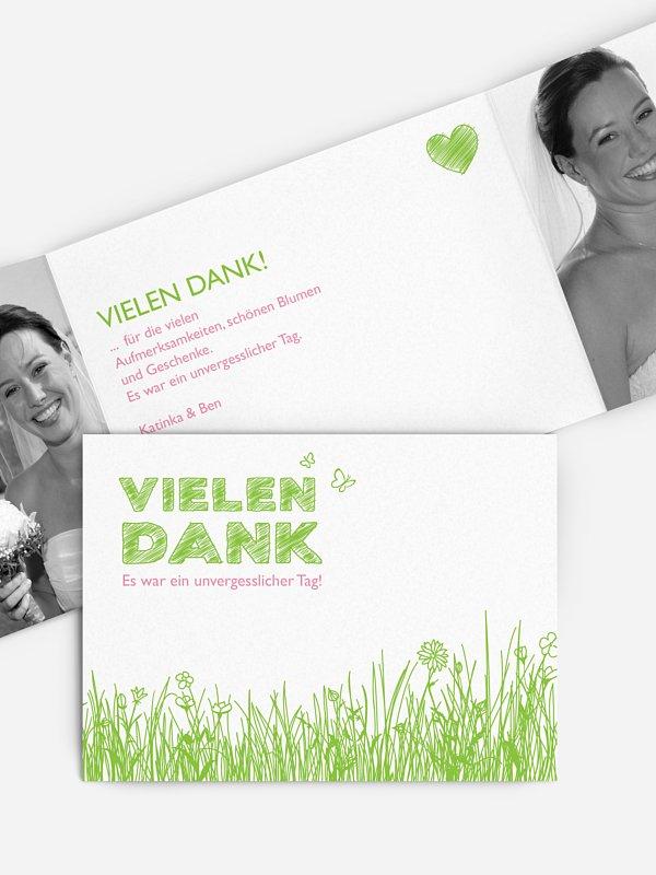 Dankeskarte Hochzeit Frühling