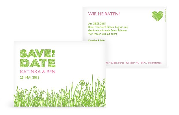 "Save-the-Date Karte ""Sommerwiese"""
