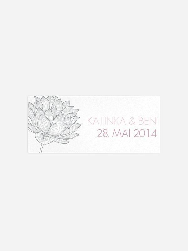Geschenkaufkleber Hochzeit Wasserlilie