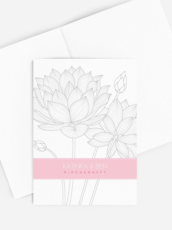 Kirchenheft Hochzeit Wasserlilie
