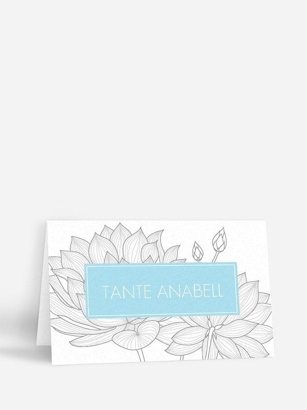 Tischkarte Hochzeit Wasserlilie