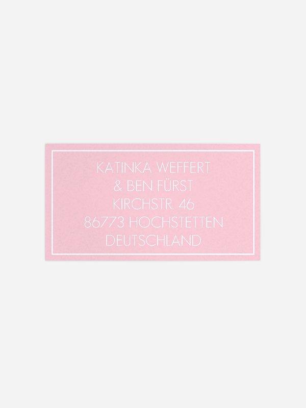 Empfängeraufkleber Hochzeit Wasserlilie