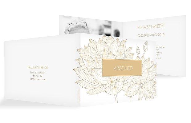 Trauerkarte Wasserlilie