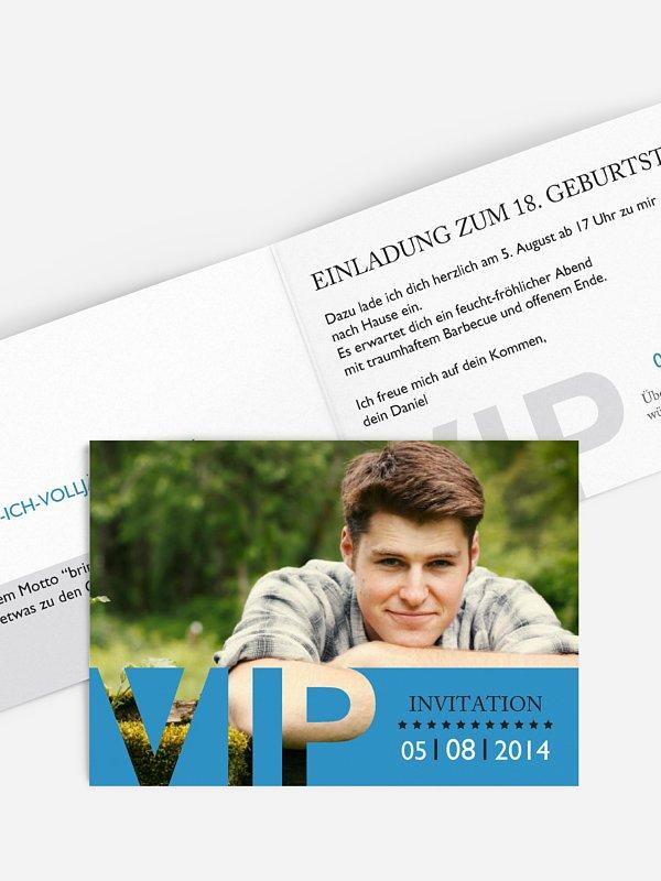 Einladung 18. Geburtstag VIP