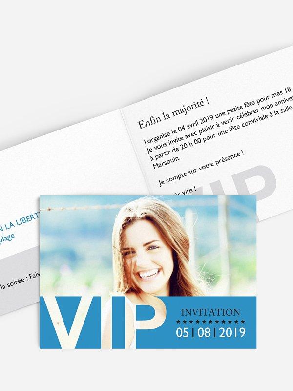 invitation anniversaire 18 VIP