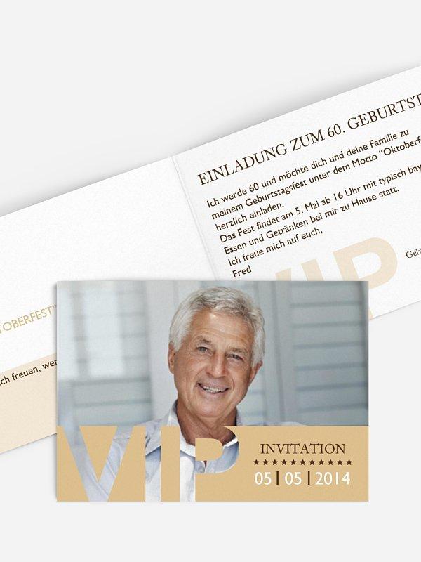 Einladung 60. Geburtstag VIP