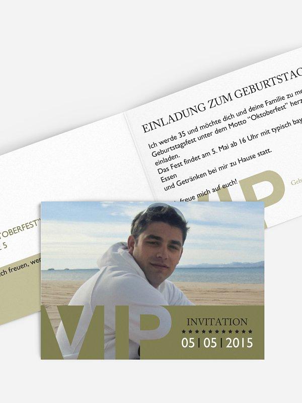 Geburtstagseinladung VIP