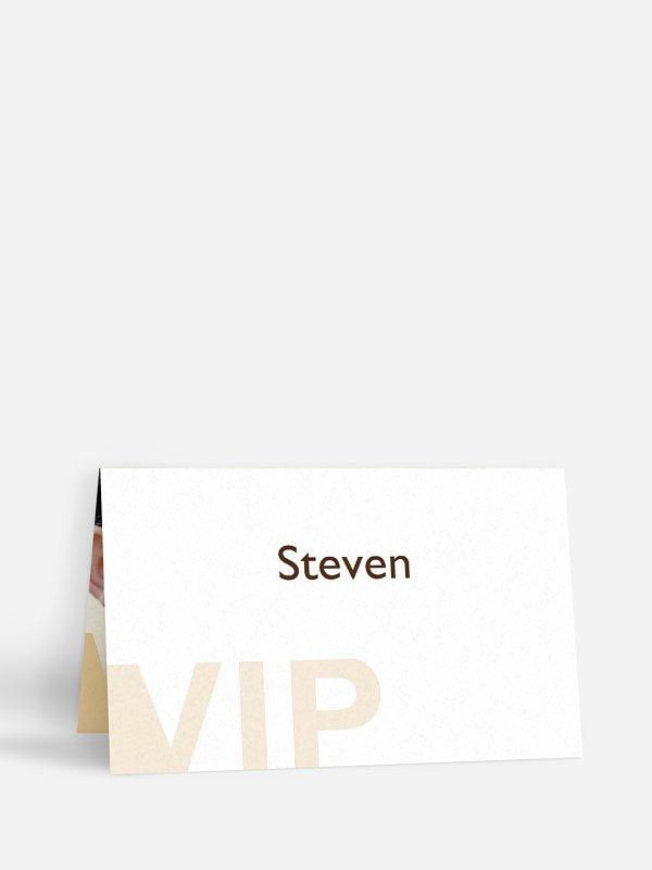 Tischkarte Geburtstag VIP