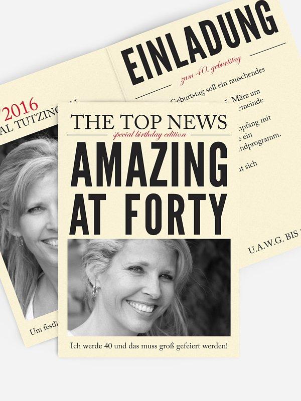 Einladung 40. Geburtstag Top News