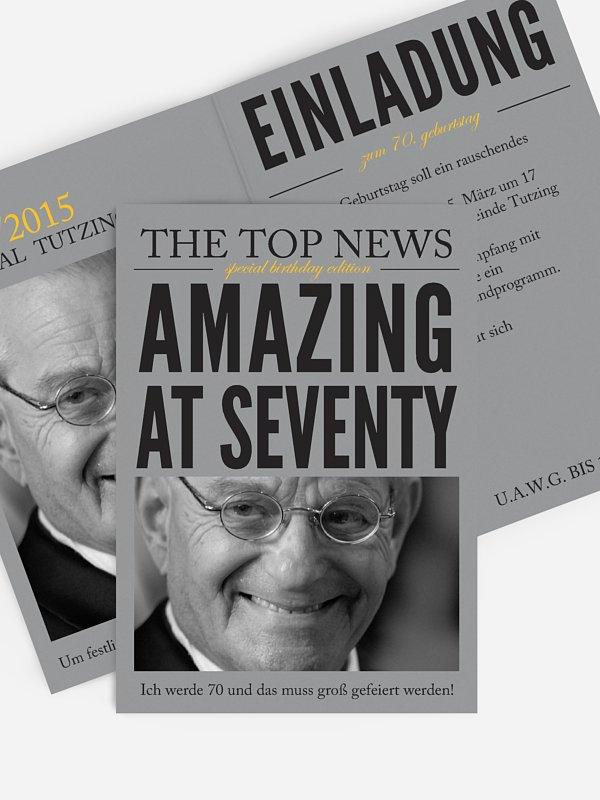 Einladung 70. Geburtstag Top News