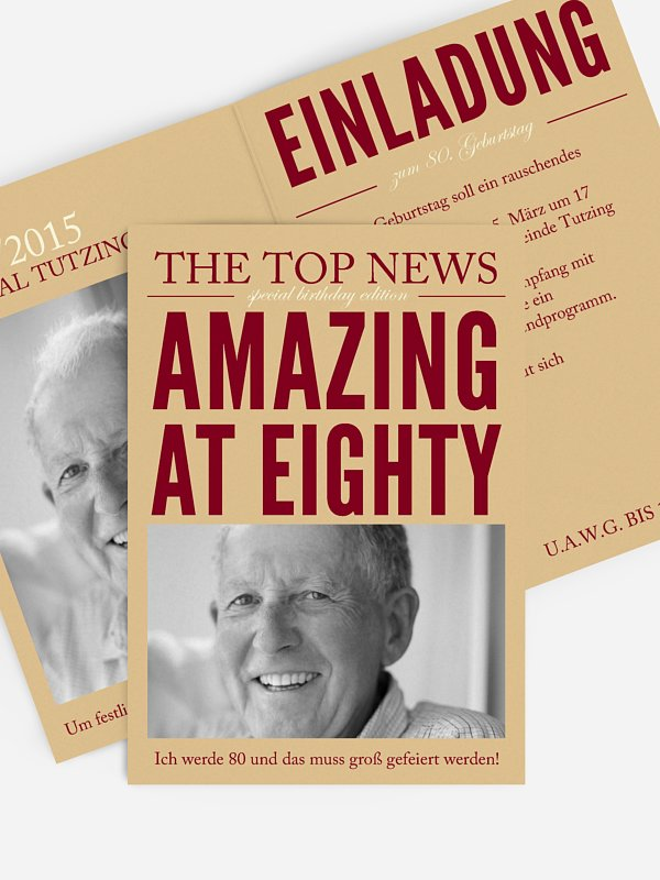 Einladung 80. Geburtstag Top News