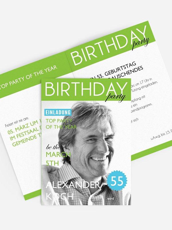 Geburtstagseinladung Magazin