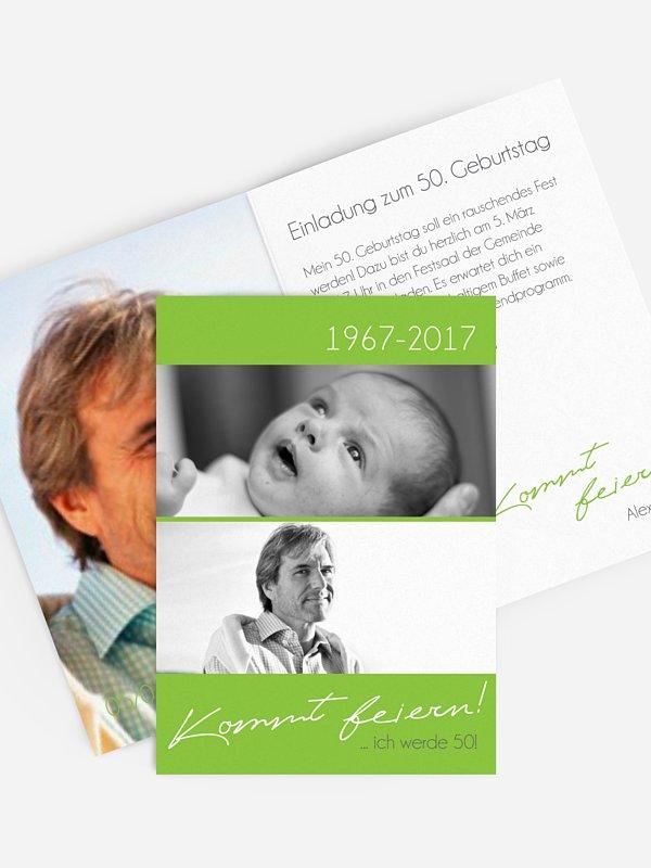 Einladung 50. Geburtstag Kommt feiern