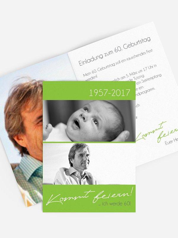 Einladung 60. Geburtstag Kommt feiern