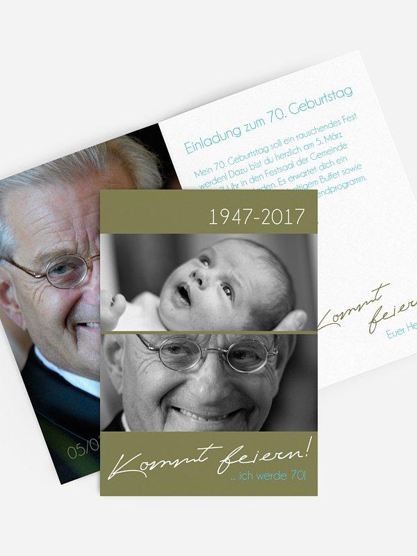 Einladung 70. Geburtstag Kommt feiern