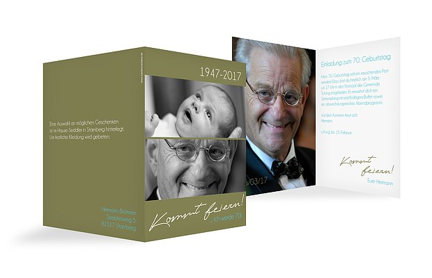 Einladung 70 Geburtstag Kommt Feiern