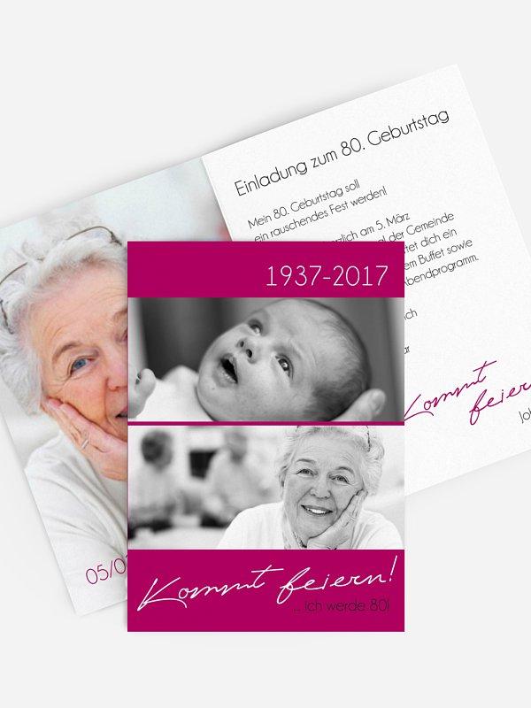 Einladung 80. Geburtstag Kommt feiern