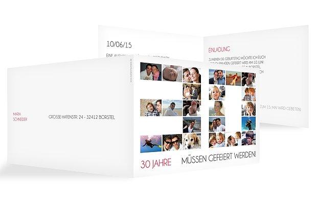 Einladung Zum 30 Geburtstag Einladungskarten Gestalten