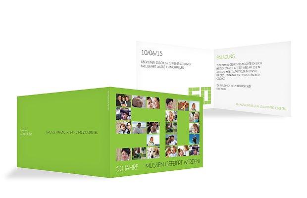 Einladung 50 Geburtstag Fotozahl