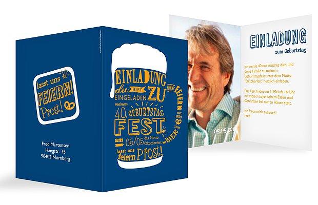 Schön Einladung 40. Geburtstag Bierkrug