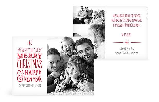 Weihnachtskarte Scribble
