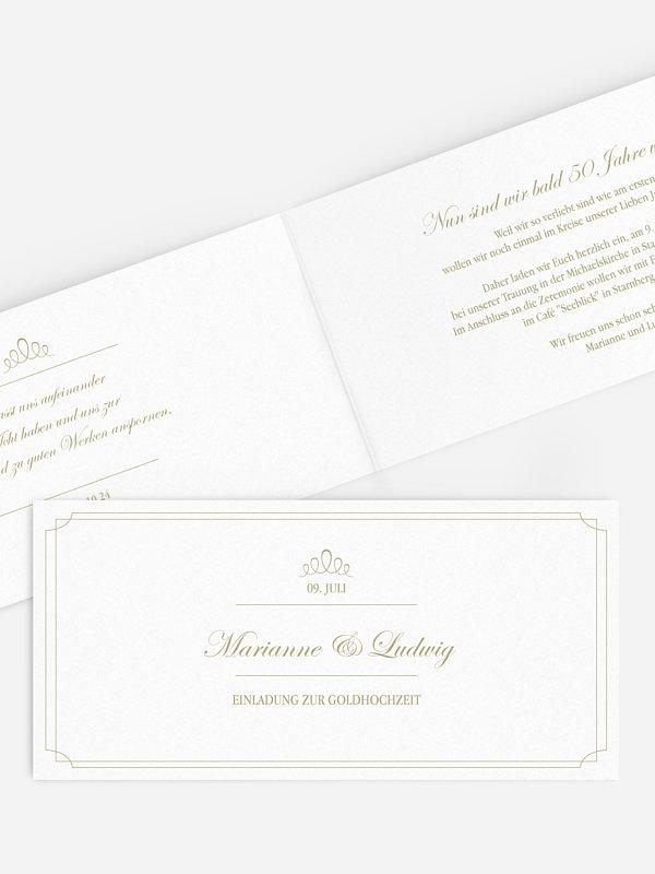 Einladung zur Goldenen Hochzeit Noblesse