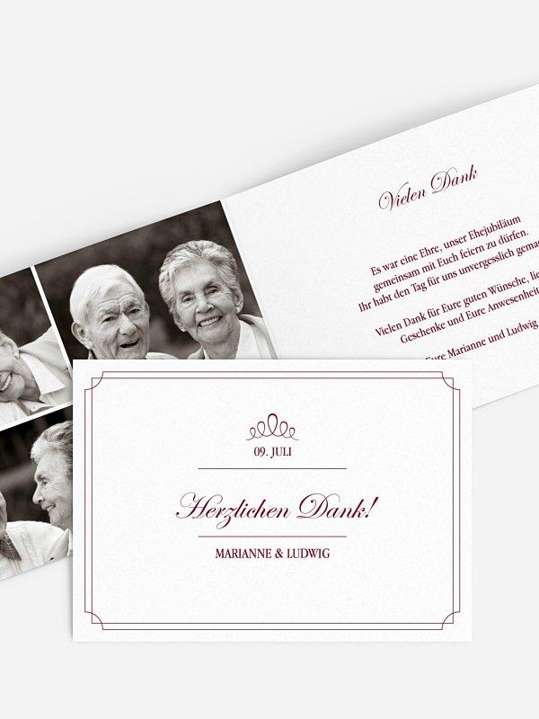 Danksagung zur Goldenen Hochzeit Noblesse
