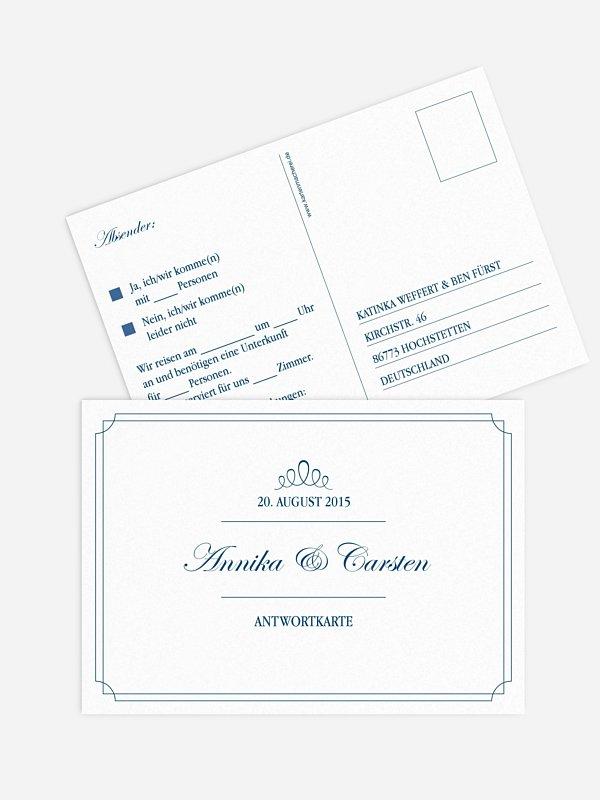 Antwortkarte Hochzeit Noblesse