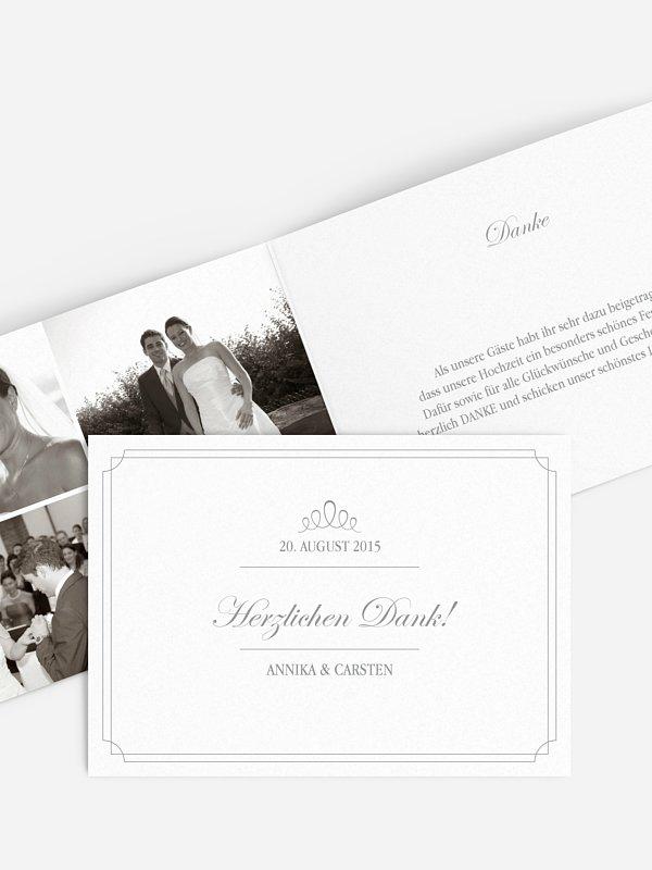 Dankeskarte Hochzeit Noblesse